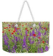 Poppy And Wild Flowers Meadow Nature Scene Weekender Tote Bag