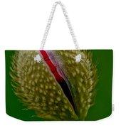 Poppy Bud Weekender Tote Bag