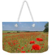 Poppy Fields 1 Weekender Tote Bag