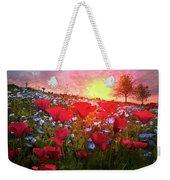 Poppy Fields At Dawn Weekender Tote Bag