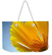 Poppy Flower Art Print Poppies 13 Botanical Floral Art Blue Sky Weekender Tote Bag