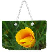 Poppy Flower Bud 9 Orange Poppies Green Meadow Art Prints Baslee Troutman Weekender Tote Bag