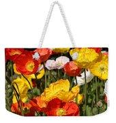 Poppy Flower Garden Weekender Tote Bag