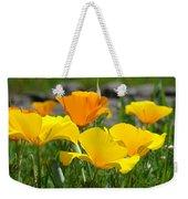 Poppy Flower Meadow 14 Poppies Orange Flowers Giclee Art Prints Baslee Troutman Weekender Tote Bag