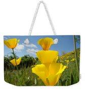 Poppy Flower Meadow 7 Poppies Blue Sky Artwork Baslee Troutman Weekender Tote Bag
