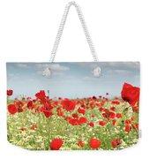 Poppy Flowers Field Nature Spring Scene Weekender Tote Bag