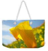 Poppy Flowers Meadow 3 Sunny Day Art Blue Sky Landscape Weekender Tote Bag