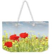 Poppy Flowers Nature Spring Scene Weekender Tote Bag