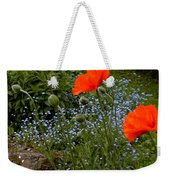 Poppy Foursome Weekender Tote Bag
