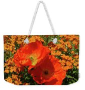 Poppy Glories Weekender Tote Bag