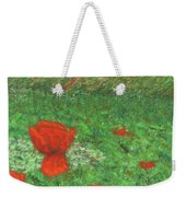 Poppy In Country Weekender Tote Bag