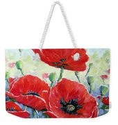 Poppy Love Floral Scene Weekender Tote Bag