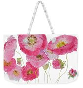 Poppy Painting On White Background Weekender Tote Bag