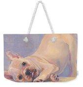 Poppy Puppy Weekender Tote Bag