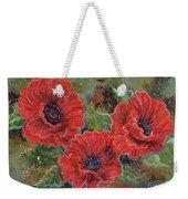 Poppy Splendor Weekender Tote Bag