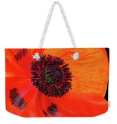 Poppy With Raindrops 2 Weekender Tote Bag