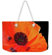Poppy With Raindrops 3 Weekender Tote Bag