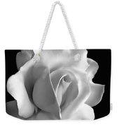 Porcelain Rose Flower Black And White Weekender Tote Bag