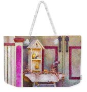 Porch - Cranford Nj - The Birdhouse Collector Weekender Tote Bag by Mike Savad