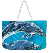 Porpoise Pair - Close Up Weekender Tote Bag