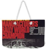 Porsche 1970 Rally World Champion Weekender Tote Bag