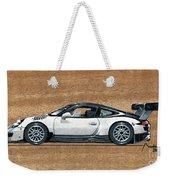 Porsche 911 Gt3r On Wood Weekender Tote Bag