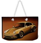 Porsche 911 Turbo 1976 Painting Weekender Tote Bag