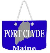 Port Clyde Maine State City And Town Pride  Weekender Tote Bag