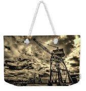 Port Crane At Sunset Weekender Tote Bag
