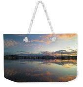 Port Of Anacortes Marina At Sunset Weekender Tote Bag