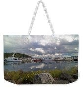 Port Of Anacortes Marina On A Cloudy Day Weekender Tote Bag