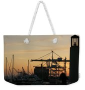 Port Of Oakland Sunset Weekender Tote Bag