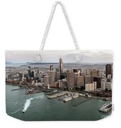 Port Of San Francisco And Downtown Financial Districtport Of San Francisco And Downtown Financial Di Weekender Tote Bag