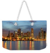 Port Of Singapore With City Skyline Weekender Tote Bag