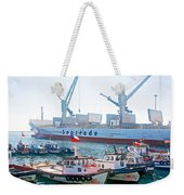 Port Of Valpaparaiso-chile Weekender Tote Bag