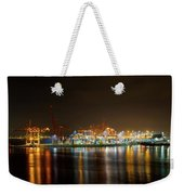 Port Of Vancouver Bc At Night Weekender Tote Bag