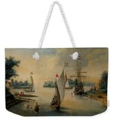Port Scene With Sailing Ships Weekender Tote Bag