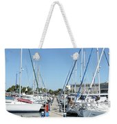 Port With Yacht  Weekender Tote Bag