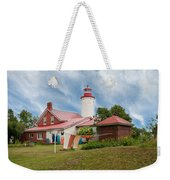 Portage River - Jacobsville - Lighthouse Weekender Tote Bag