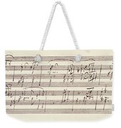 Portion Of The Manuscript Of Beethoven's Sonata In A, Opus 101 Weekender Tote Bag