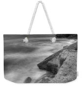 Portland Bill Seascape In Black And White Weekender Tote Bag