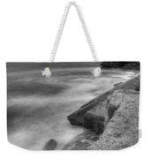 Portland Bill Seascape In Black And White Weekender Tote Bag