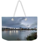 Portland City Downtown Cityscape During Evening Weekender Tote Bag