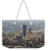 Portland City Downtown Cityscape Panorama Weekender Tote Bag