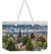 Portland City Skyline From Mount Tabor Weekender Tote Bag