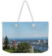 Portland Cityscape And Bridges On A Clear Blue Day Weekender Tote Bag