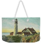 Portland Head Light At Sunrise Weekender Tote Bag