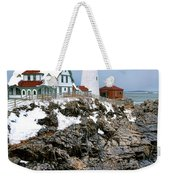 Portland Head Light In Winter Weekender Tote Bag