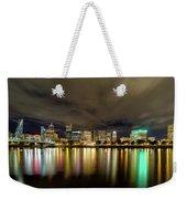 Portland Nightscape Weekender Tote Bag