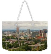 Portland Oregon Downtown Cityscape By Freeway Weekender Tote Bag
